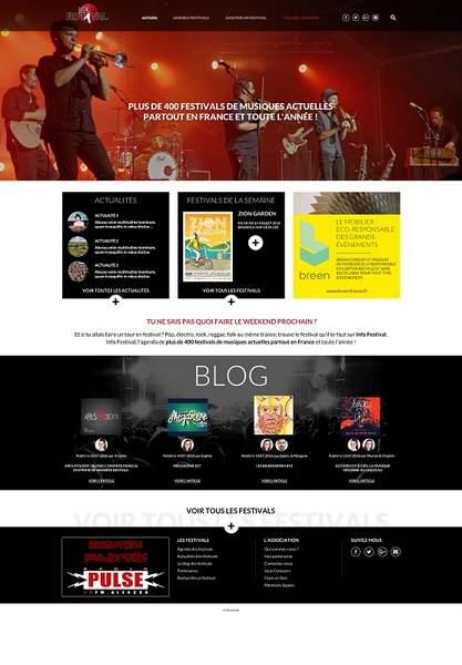 L'anatomie d'un site Web de festival réussi